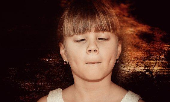 Child, Girl, Face, Squint, Portrait