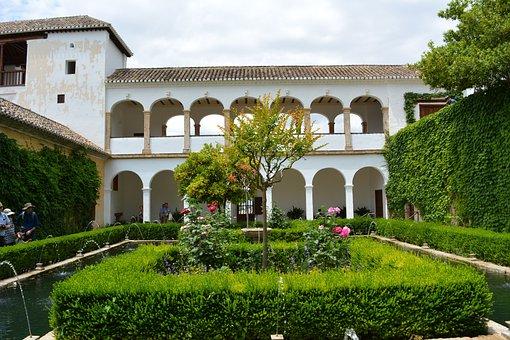 Alhabra, Generalife, Granada, Garden, Andalusia