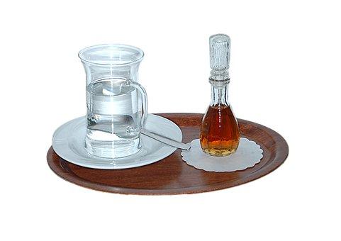 Grog, Grog Glass, Tray, Alcohol