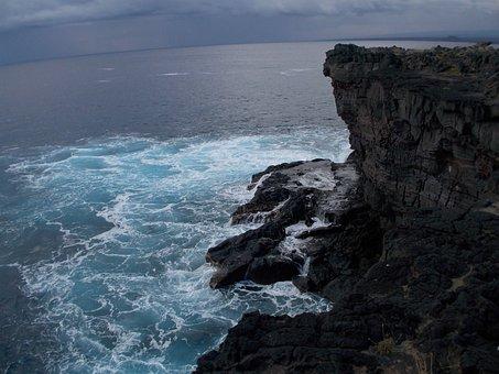 South Point, Ka Lae, Cliff, Big Island, Hawaii