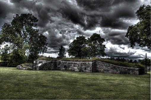 Church Ruin, Ruin, Hdr, Lawn, Sweden, Landscapes, Green