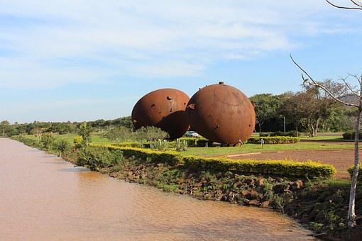 Itaipu, Binational, Balls, Sculpture, Brazil