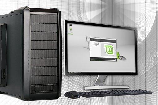 Office, Pc, Computer, Desktop, Linux, Monitor, Keyboard