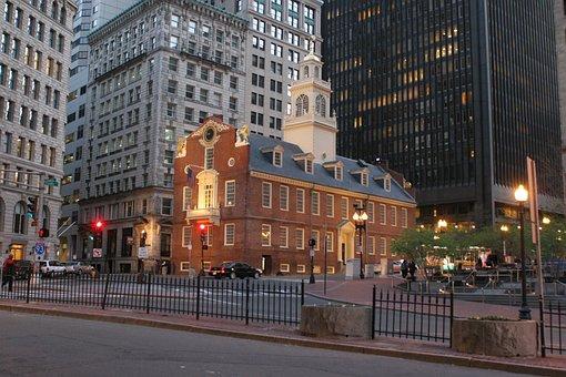 Boston, Old State House, Twilight, Massachusetts