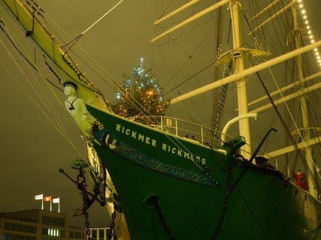 Rickmer Rickmers, Hamburg, Sailing Vessel, Port, Museum