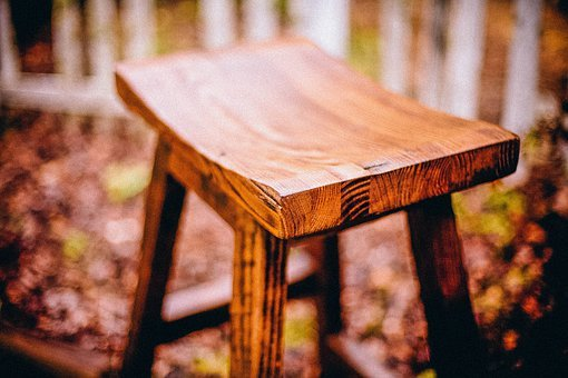 Chair, Wood, Simple, Sitting, Carved, Crafted, Rustic