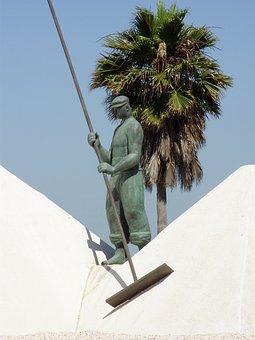 Puerto Real, Spain, Monuments, Sculpture, Workers, Salt