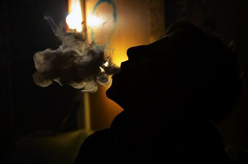 Smoke, Boy, The Photo Shoot, Silhouette, Cigarette