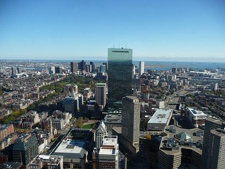 Boston, Usa, Skyline, America, Port City, Skyscrapers