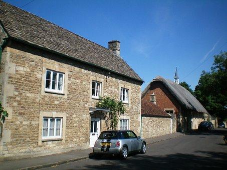 Oxford, England, Street, Building, Top, Auto