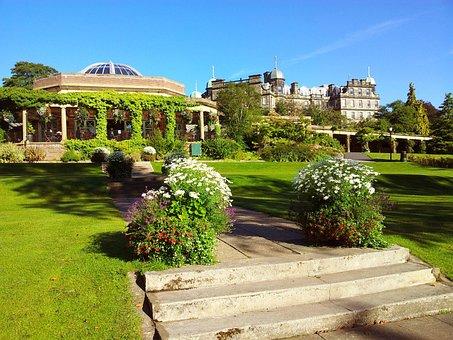 England, Building, Flowers, Garden, Valley Gardens