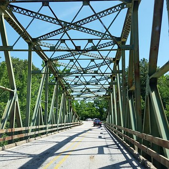 Trestle Bridge, Bridge, Road, Trestle, River, Landscape