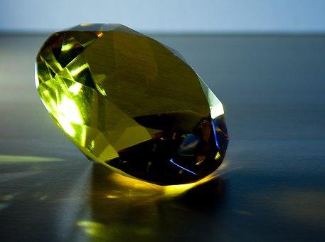Diamond, Light, Sparkle, Blue, Noble, Transparent