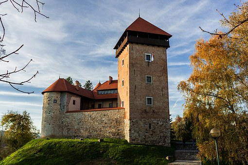 Castle, Hill, Building, Tower, Europe, Old, Fortress
