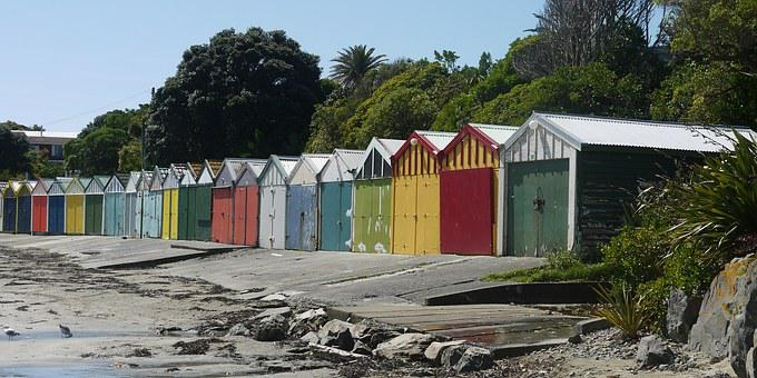 Beach, Beach Huts, Seaview, Hut, Summer, Sand, Vacation