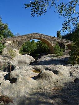 Bridge, Medieval, Romanesque, Rocks, River, Priorat