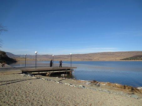 Pier, Lake, Lisi Lake, Tbilisi, Public Pier, Water