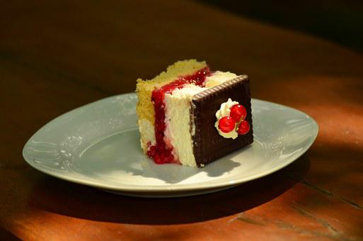 Cake, Sahneschnitte, Tart, Currants, Biskuitt, Cream