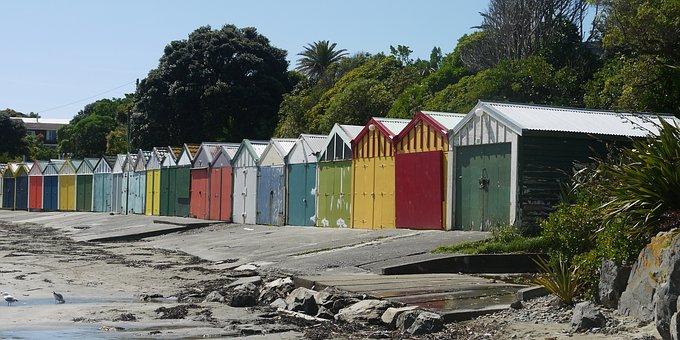Beach, Beach Huts, Seaview, Hut, Summer, Sand, Vacation