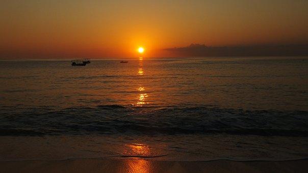 Beach, Sun, Sunset, Summer, Vacation, Sea, Travel