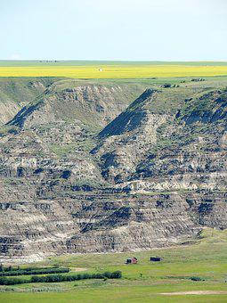 Drumheller, Canyon, Valley, Nature, Alberta, Canada