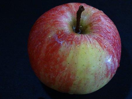 Apple, Drop Of Water, Fruit, Shiny, Water, Watery