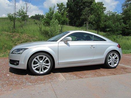 Audi, Tt, Silver, Auto, Vehicle, Automotive