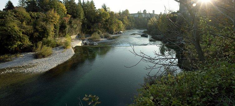 Friuli, Cividale, River, Natisone, Sunset, Landscape