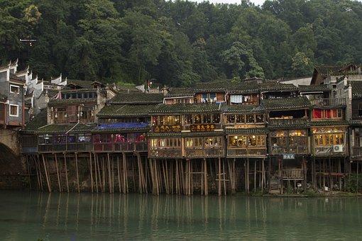 In Western Hunan, Fenghuang, Diaojiaolou
