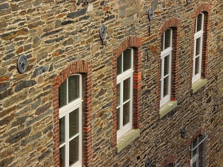Dry Stone House, Window, Perspective, Old, Building
