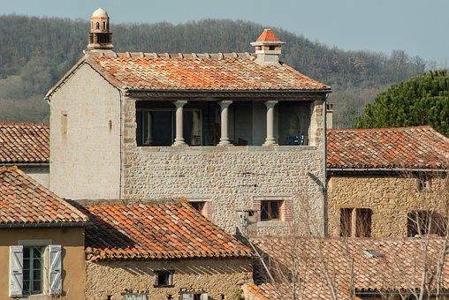 France, Lala, Village, Tiled Roofs, Medieval Villages