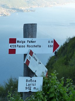 Directory, Signs, Gardsee, Hiking, Viewpoint