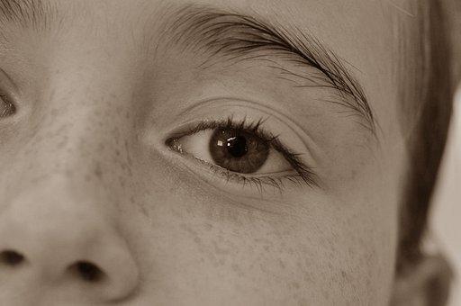 Face, Eye, Freckles, Girl