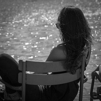 Paris, Jardin Des Tuileries, Woman, Young Woman, Sun