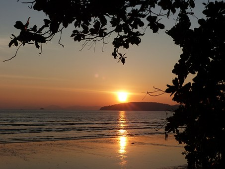 Sunset, Ao Nang Beach, Krabi, Thailand