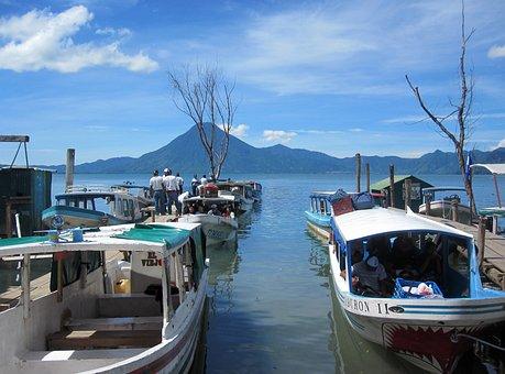 Atitlan, Guatemala, Lake, America, Travel, Volcano
