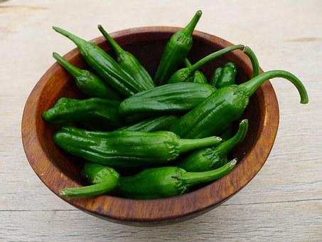 Shishito Peppers, Peppers, Appetizer, Organic, Spicy