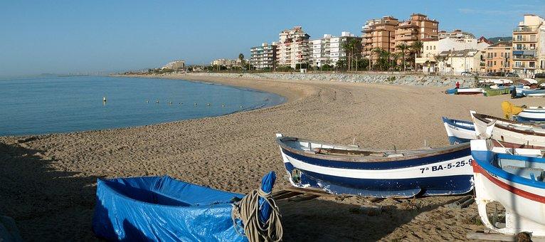 Beach, Ponent, Vilassar De Mar, Panoramic