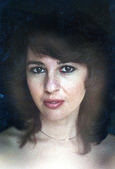 Portrait, Girl, Vintage, Grunge, Freckles, Youth