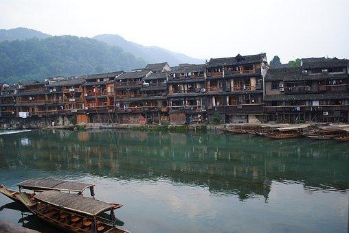 Tourism, Hunan, History, China, Fenghuang, Reflection