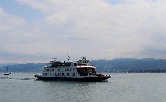 Ship, Motor Ship, Car Ferry Friedrichshafen