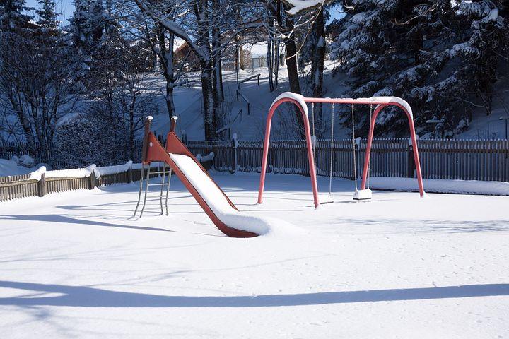 Children's Playground, Slide, Swing, Playground, Play