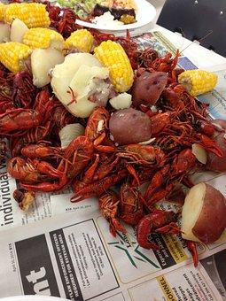 Crawfish, Crayfish, Boil, Seafood, Table