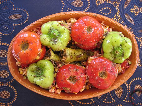 Tomatoes, Paprika, Vegetables, Grilled, Oven Dish