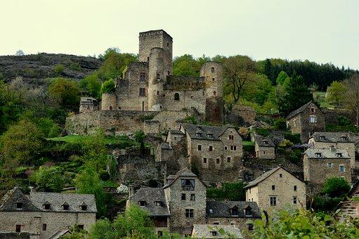 Castle, Aveyron, Belcastel, Medieval, Village