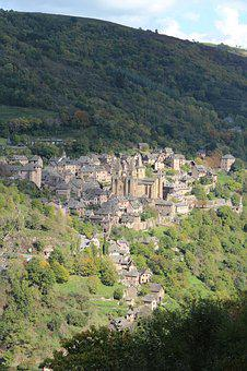 Ocnques, Village, Medieval, France, Village Of Conques