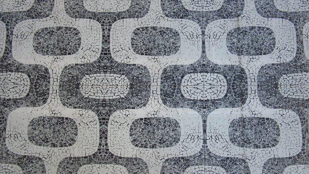 Mosaic, Ground, Pattern, Regularly, Road, Vintage