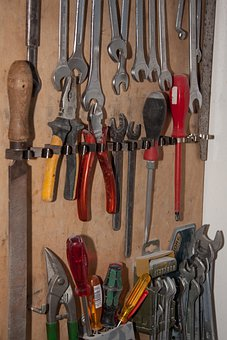 Tool Wall, Tool, Storage, Wrench, Pliers, File, Graver