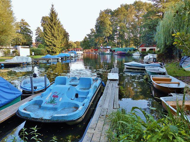 Boats, Jetty, Water, Müggelsee, Berlin, Blue
