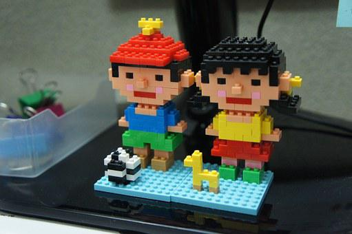 Lego, Toy, Constructor, Boy And Girl